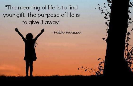 Finding your purpose helps to let of someone you love
